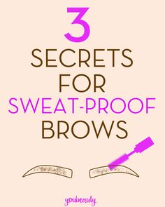 Secret 2: Hold shape with a water resistant brow gel.  Benefit's Gimme Brow is a miraculous product in every type of weather, but I can vouch for its staying power even in the sweatiest of situations. I've put this stuff on in the morning, worked a full day, then gone outside to take a run on the hottest, muggiest Tennessee summer day, and when I got home my brows still looked flawless. Like I said: miraculous.