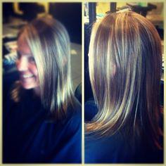 "@tangledupsalonvb's photo: ""Summer #highlight by Nikki. #foil #highlight#lowlight #redken #framesi #cut #hair #salon #lowlight #style #tangledupsalon @nikskip @miss_lannaa @asholee1"