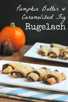 A Fall inspired cookie with homemade Pumpkin Butter. This Pumpkin Butter and Caramelized Fig Rugelach is insanely good! Pumpkin Recipes, Fall Recipes, Holiday Recipes, Holiday Ideas, Hanukkah Recipes, Cookie Recipes, Sangria, Pumpkin Butter, Kosher Recipes
