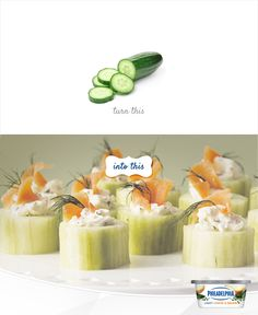Go from cucumber to cute-cumber with these fancy little roulades.