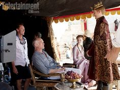 Alan Taylor (director, seated), Sansa Stark (Sophie Turner), Joffrey Baratheon (Jack Gleeson)