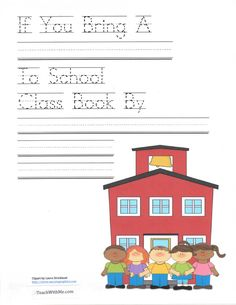 FREE If You Bring A Blank To School Class Book.  Do after reading If You Take A Mouse To School