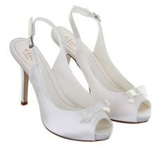 ELSE BY RAINBOW CLUB CALICIO DYEABLE WEDDING SHOES from Elegant Steps    A cute 50's inspired bow adorns this elegant sling back with contemporay concealed platform.   £55.00
