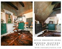 Office Makeover Using Modern Masters Metal Effects