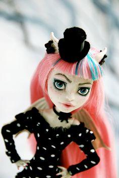 OOAK custom Monster High Doll Rochelle Goyle repaint by SkulletteDolls on Etsy https://www.etsy.com/listing/211152303/ooak-custom-monster-high-doll-rochelle