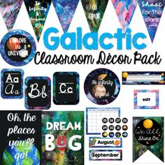 You'll space out with this {EDITABLE} packet of galactic themed resources to help you turn your classroom into a galactic space adventure. This bundle includes over 350 pages of resources. Download the preview for a sample look of each item included.