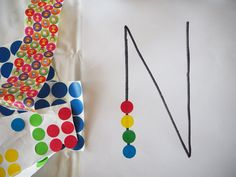 Learn with Play at Home: Fine Motor Dot Sticker Letter Learning and Name Recognition