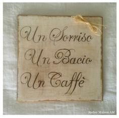 Quadri in legno con frasi personalizzate pensieri - Scritte in legno shabby ...