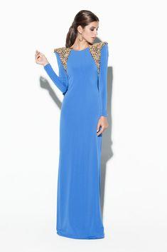 Vivaldi. Rebajas. Colección Colour Nude. Vestido largo con aplicaciones doradas. Vestidos de fiesta. Aprovecha la ofertas limitadas especiales en nuestra tienda online.