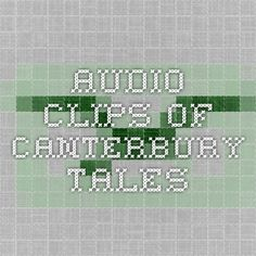 audio clips of canterbury tales