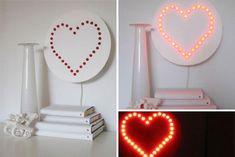 hearts decorations, crafts and heart valentines day ideas for home decorating