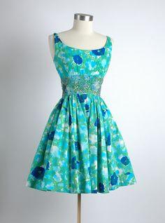 HEMLOCK VINTAGE CLOTHING : 1950's Malcolm Starr Floral Dress