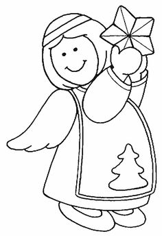 christmas angel coloring Pages - Bing Images Angel Coloring Pages, Coloring Pages To Print, Free Coloring Pages, Coloring Books, Christmas Colors, Winter Christmas, Christmas Angels, Christmas Crafts, Angel Outline