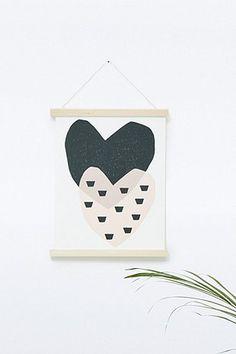 Cadre poster aimanté - 4 baguettes en bois - 4 aimants très fins - 1 ficelle - de la colle