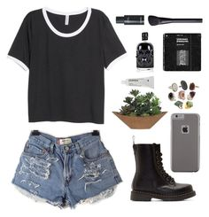"""""""✧ What's wrong with being confident"""" by annakathryne ❤ liked on Polyvore featuring H&M, Case-Mate, Dr. Martens, Lux-Art Silks, Korres, NARS Cosmetics and annasklothes"""