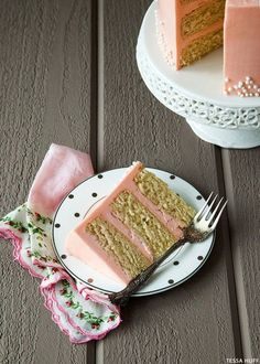 White Chocolate Cake with Rose Buttercream (recipe)