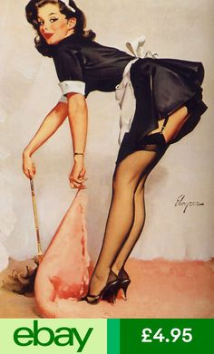 HOT LEGGY pin-up girl vintage poster 24X36 attractive sex-appeal PLAYFUL