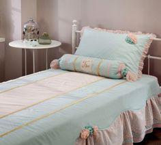 Romantic meisjes kamer kinderkamer Specialist in kinderkamers en slaapkamers Bed Covers, Comforters, Toddler Bed, Paradise, Pastel, Blanket, Furniture, Home Decor, Quartos