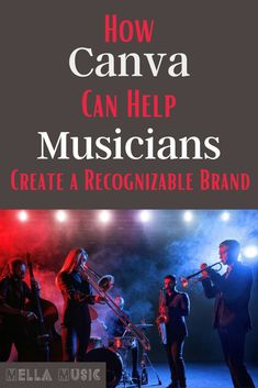 Canva can help musicians with everything from website design to social media posts to album covers! Learn how to create a brand for your music here! Music Lessons, Guitar Lessons, Small Movie, I Get Money, Social Media Branding, Singing Tips, Music Promotion, Social Media Channels, Album Design
