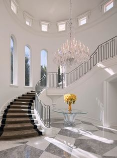 Foyer decorating – Home Decor Decorating Ideas Luxury Home Decor, Luxury Interior, Home Interior Design, Luxury Homes, Interior Modern, Interior Architecture, Modern Staircase, Staircase Design, Winding Staircase