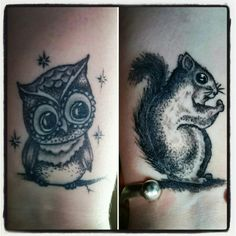 My owl and squirrel! Created by Dan @ Bobinski's