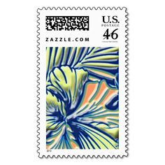 Hint of Tropical First Class Postage Stamp #tropical #stamps #postage #hibiscus #firstclass #zazzle