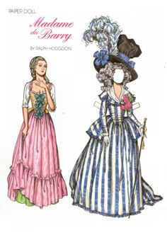 Free Madame du Barry Paper Doll with 1 Doll and 2 Outfits