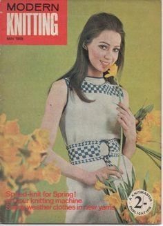 VINTAGE MODERN KNITTING MAGAZINE - MACHINE KNITTING - MAY 1968
