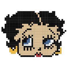 Betty Boop Betty Boop, Pony Bead Animals, Beaded Animals, Hama Beads Patterns, Beading Patterns, Crochet Patterns, Pixel Art, Perler Bead Art, Perler Beads