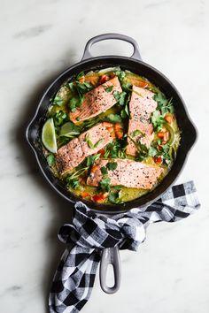 Pinterest | | @AdelineLeeuw Green Curry Salmon