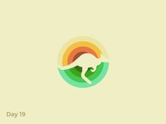 Daily Logo 19/50 - Kangaroo Logo by  Pavlo Plakhotia  #Design Popular #Dribbble #shots