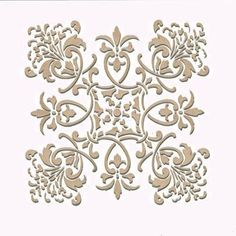 Create a fabric design or a kitchen backsplash with our Florence Tile Craft Stencil. Stencil this pattern as a single wall art motif, create a faux tile effect, or an allover European pattern. This st