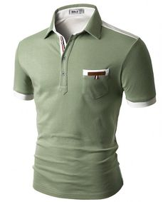 Doublju Mens back color blocked short sleeves polo shirts with pocket point Doublju is perfect brand for customers who are looking for quality item with Polo Shirts With Pockets, Polo T Shirts, Polo Jeans, Men Shirts, Long Sleeve Polo, Short Sleeve Polo Shirts, Short Shirts, Casual T Shirts, Men Casual