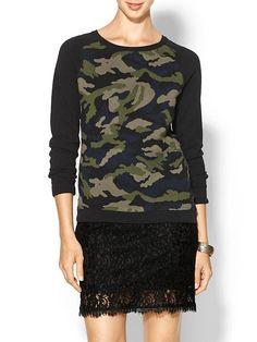 Piperlime | Camo Intarsia Sweater