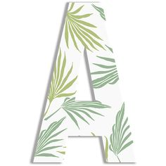 Stupell Industries White & Green Tropical Leaves Letter Wall Art ($25) ❤ liked on Polyvore featuring home, home decor, wall art, whimsical home decor, typography wall art, word wall art, calligraphy wall art and palm leaf wall art