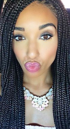 Small Box Braids Loose Ends Protective Hairstyles