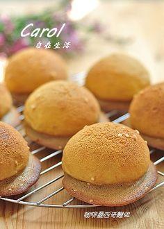 Carol 自在生活 : 咖啡墨西哥麵包 。咖啡飛碟麵包