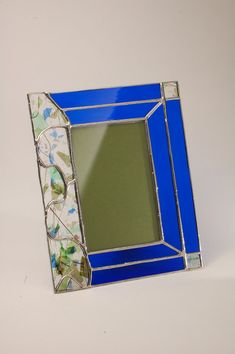 4 x 6 Stained Glass Picture Frame by holly12ng on Etsy, $72.00
