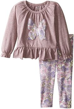 Burt's Bees Baby Baby Girls' Applique Butterfly Peasant Tee and Floral Legging, Boysenberry Heather, 18 Months Burt's Bees Baby http://www.amazon.com/dp/B00X7F3PSY/ref=cm_sw_r_pi_dp_KYD3wb1NY9MF4