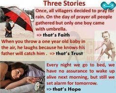 Trust=love. Faith, LOVE, hope