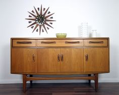 I'd very much like this vintage G Plan sideboard in my living room! Check out the detailing on the handles.