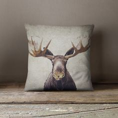 Moose pillow cover pillow case moose by RetroLovePhotography