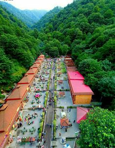 Amazing view of the open air markets, Castle of Roudkhaan, Fouman County in Gilan Province, Iran Tourist Places, Places To Travel, Places To Visit, The Beautiful Country, Beautiful Places, Iran Tourism, Camping Tours, Nature Photography, Travel Photography