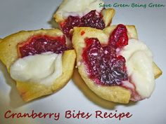 Cranberry Bites Recipe, good appetizer recipe for Christmas or Thanksgiving