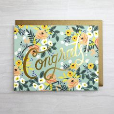 Congrats! Floral Greeting Card by Rifle Paper Co. Heyday Bozeman.