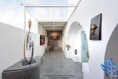 At the back of Oia Treasures Art Gallery. Oversized Mirror, Art Gallery, Bathtub, Furniture, Home Decor, Standing Bath, Art Museum, Bathtubs, Decoration Home