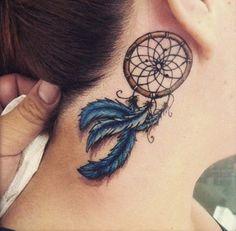 Simple Dreamcatcher tattoos - dreamcatcher feathers - Dream Catcher Tattoo: Dreamcatcher Tattoo Meaning, Ideas and Designs, Tattoos for Women, Small Dreamcatcher Tattoos Feather Tattoos, Star Tattoos, Leg Tattoos, Body Art Tattoos, Butterfly Tattoos, Celtic Tattoos, Sleeve Tattoos, Atrapasueños Tattoo, Tattoo Hals