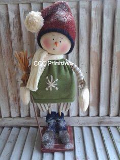 Primitive Pattern - Primitive Snowman Leo E-Pattern - Snowman Pattern - Snowmen Pattern - Handmade Snowman Pattern - Winter Snowman Pattern