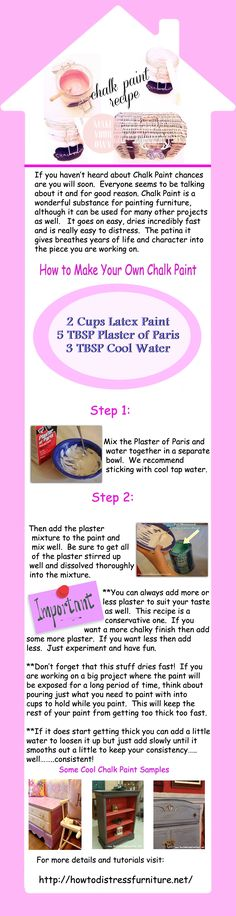 how to make chalk paint infographic-howtodistressfurniture