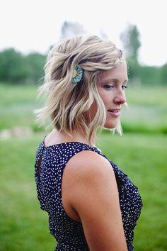 Front Braid Hair -  kinda boho or hippie-ish looking with the braid creating a headband effect